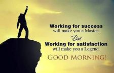 working for satisfaction
